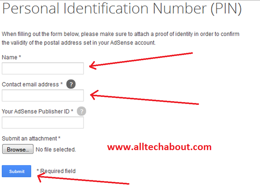 How To Verify Google Adsense Account Without Pin Code