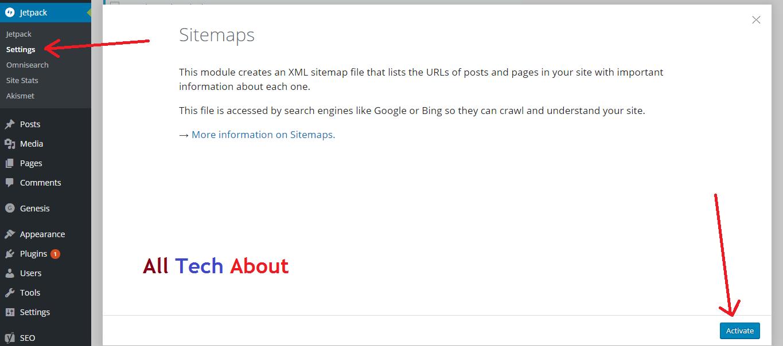 How To Generate Sitemap for WordPress Blog using Jetpack plugin
